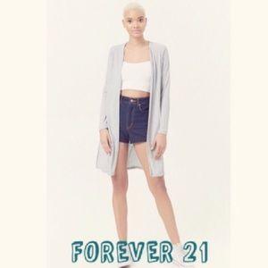 NWOT FOREVER 21 light grey cardigan sweater